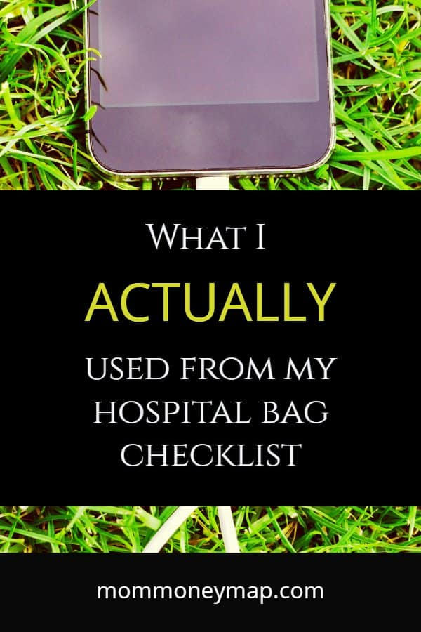 What I actually used from my Hospital Bag Checklist