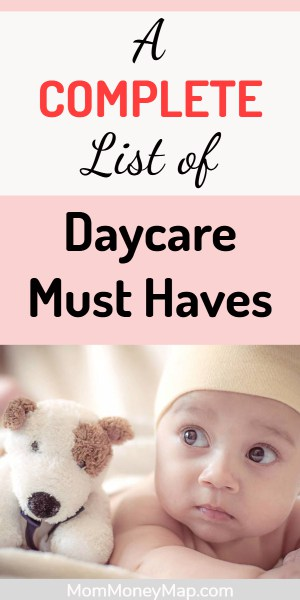 List of items needed to start at daycare