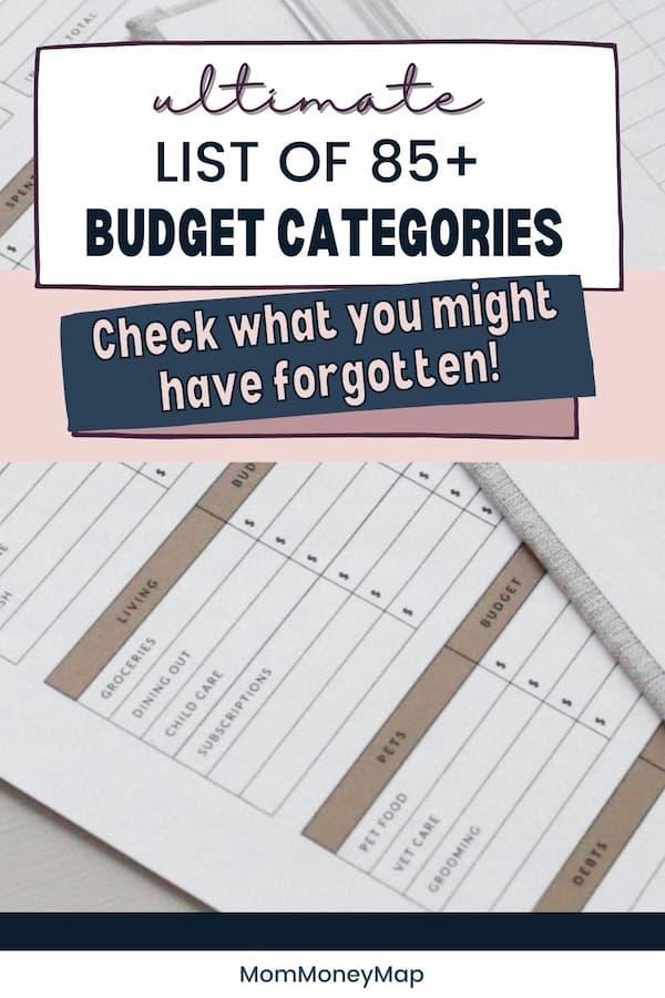personal budget topics
